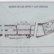 Fotografía del plano actual de la Ciudad de las Artes y las Ciencias. |L.Osset