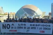 Concentración de trabajadores de CACSA para protestar antes de las negociaciones. | Twitter.