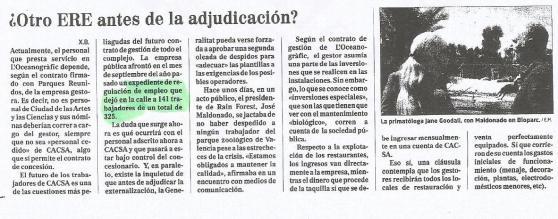 Recorte de prensa de El Mundo (24/03/2013).